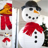 "Biodegradable Paper Christmas Decorations Outdoor Snowman Lantern 10"" 12"" 14"" 16"""