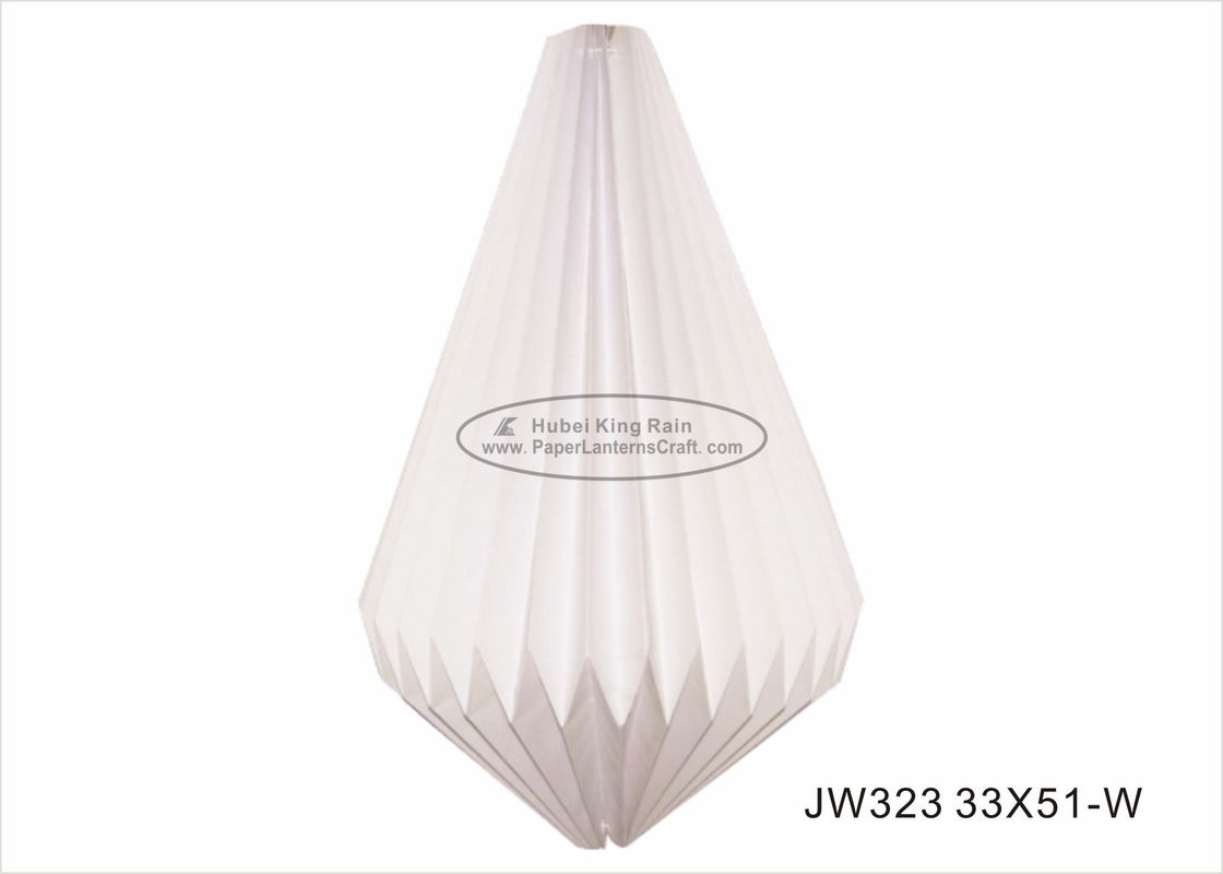 Amazing White Origami Lampshade 33cm Origami Decorations For Your Room