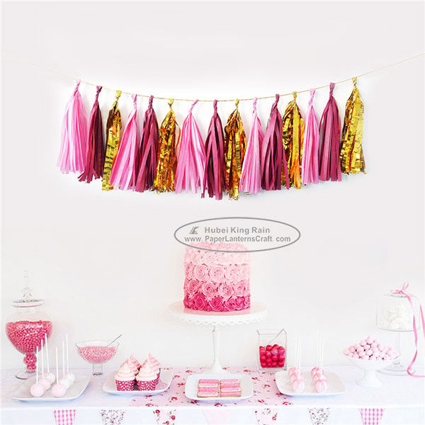 Mixcolor Tassel Garland Paper Garland Christmas Birthday Party Decorations